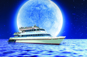 Picture of the Jet Express Ferry Late Night